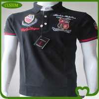 Custom embroidered design high quality cheap polo t-shirt for adult