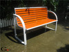 Powder coated metal and solid wood bench furniture teak wood bench