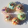 Falso 6color/lot 3d mini torta de la taza de imitación con la decoración de crema de imán de nevera para la fiesta de decoración de la casa