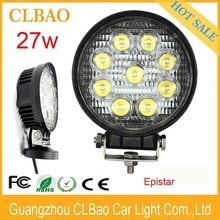 Super brightness IP67 4.3'' 10-30V 1890LM epistar circle type 27w led work light for truck