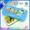 Funny pencil case cartoon design double open plastic pencil box kids school box
