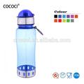 650ml plastic blue clear water bottle sports
