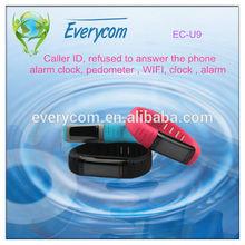 Wrist Watch EC-U9 High Quality Watch Mobile Phone With Caller ID, Reject Call, Alarm Clock, Pedometer, WIFI,
