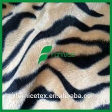 China factory wholesale animal skin priny velboa & tiger print fabric