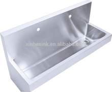 large kitchen stainless steel wash trough sink