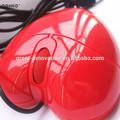 Ratón óptico de ordenador conectado en forma de corazón