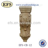 New decorative wood carving beautiful grape wood corbels