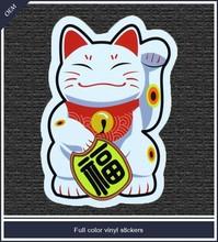 Custom cap sticker full color vinyl sticker