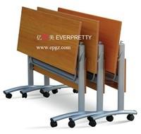 Wooden Potable Folding Computer Table Desk Design with Wheels