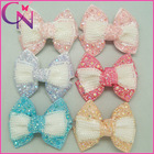 Boutique Rhinestones And Pearls Hair Bow Headwear For Girl Women