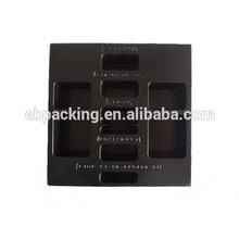 black plastic ESD trays packaging