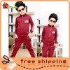 Top Wholesale!!Last design fashion terry lovely printing korea style children's clothing set kids old fashioned clothes
