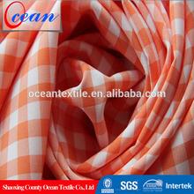 bandage dress madras check 97 polyester 3 spandex fabric