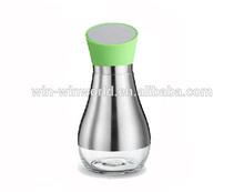 Metal Cover Green Party Garden Glass Bottle For Oil Or Vinegar