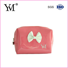 Hot sales lovely fashion pu leather modella travelling cosmetic bag for lady