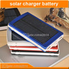 solar panel battery charger 3.7v 10000mah with light indicator