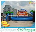 personalizar 2014 baratos parque inflável da água e água slide com piscina