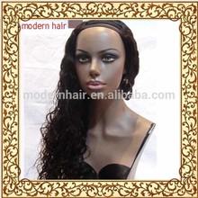 Factory wholesale 100 virgin mongolian kinky curly cheap u part wigs for black woman
