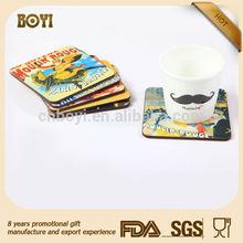 Hot selling promotional souvenir mdf coaster, ab coaster manual, advertising wooden coaster holder