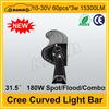 "Cree 31.5"" 15300LM 180W high power led driving light bar"