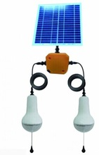 5W solar light kits with dual lamps for Indoor use,More than 150LM per lamp