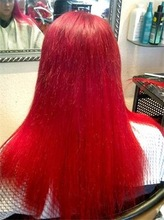 Super Human Hair Dyed Red Color Full Lace Wigs Party Wigs
