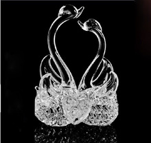 newest style creative Romantic Crystal swan crystal Gift or Wedding Home Decorations