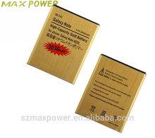 Gold Golden Business Battery for Samsung Galaxy Note GT N7000 i9220 Batterie Batterij Bateria