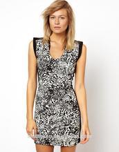 high fashion leopard printing womens dresses,dress designers fashion dress womens clothing ,summer dress women ODM manufacturer