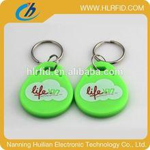 LF 125KHz /HF 13.56MHz Plastic Cheap RFID abs rfid keytag t5577 125khz