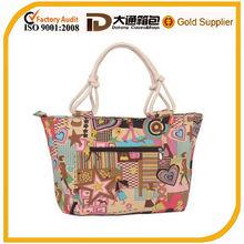 Pattern pvc coated cotton shopping bag