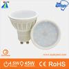 New design in 2014 rock bottom price 2835 GU10 led spotlight 4.5W johnlite rechargeable led spotlight
