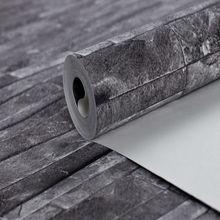 embossed black and white 3d stone brick design vinyl wallpaper