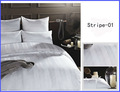 Sistema del lecho del Hotel / Hotel ropa de cama stripe-01
