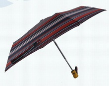 21'' 6K 3 folding auto open&close ladies sun protection umbrella