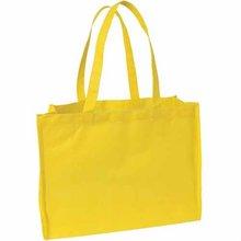 Eco Friendly Cheap yellow large capacity pp non woven shopping bag