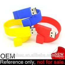 fantasy custom logo silicone bracelet usb flash memory
