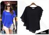 2014 New ladies cotton sarees blouse designs t shirt Top Quality Chiffon Blouse vertical Turn Down Collar custom t-shirt