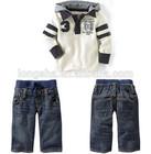 fall children boutique clothing sets boys children sweatshirt baby boy outfits hoodies + jeans 2 piece set