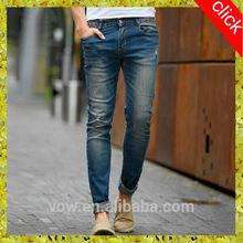2015Top wholesale bound feet men jeans pants,fashion specialized 5 pockets men jeans,skinny blue men jeans trousers China OEM