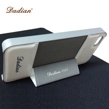 white leather silver phone case with magnet for iphone5