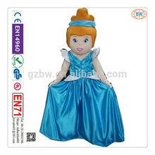 2014 vendita calda di alta qualità cinderella costume mascotte dei cartoni animati per adulti