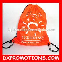 Custom polyester Drawstring bag/cheap Printed drawstring backpack