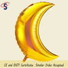 Manufactory supply gold moon shape mylar foil balloon