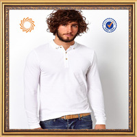 soft cotton express polo shirts plain white long sleeve polo shirts