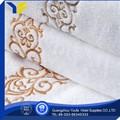 Sarja novo estilo 100% algodão orgânico letras para bordar em toalhas