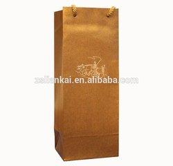 Custom High Quality Fancy Paper Tube Wine Bottle Bag Wine Packaging Bag with Rope Handle
