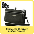 Hot Selling Top Grain Lychee Texture Genuine Leather Coin Purse Wallet