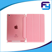 Magnetic auto wake sleep function leather case for ipad mini