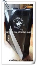 Black PP non woven shopping bags with non woven handles